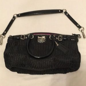 COACH NWOT FABRIC MADISON MEDIUM TOTE WITH STRAP